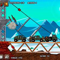 игра Уничтожь конвой - подрыв моста